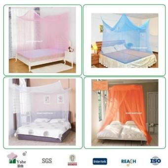 Kelambu Gantung Kotak (Kasur Ranjang Tidur Dewasa / Mawar / Anti Nyamuk / Kado Hadiah