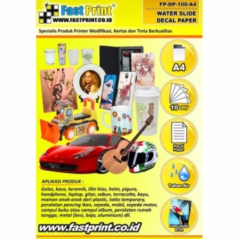 KERTAS WATER SLIDE DECAL A4 100 GRAM