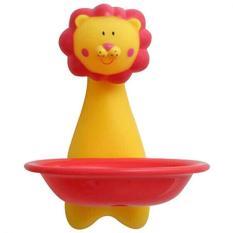 Kids Cartoon Suction Dish Sucker Soap Dish Soap Stand Storage Organizer Box Holder (Lion) - Intl