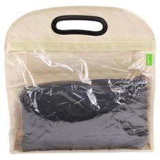 LALANG Hanging Transparent PVC Storage Bag Wardrobe Handbags Beige