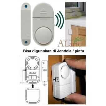 Laris 102 - Alarm Pintu dan Jendela Anti Maling Wireless Door Window Entry Alarm - White