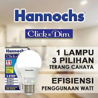 LED Hannochs Click & Dim 11w (3 Level Terang Redup)