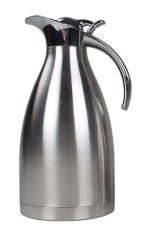 Leegoal Stainless Steel Vacuum Insulated Thermos Thermal Carafe With Press Button Top, Western Restaurant Supply