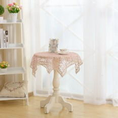 Lemon Anne Princess Elegant Embroidered Lace Tablecloth For Wedding Partyhome Table Cover Multi-Founction Towel Textile Decoration 60*60Cm - Intl