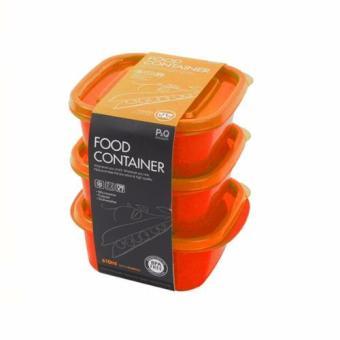 Lock&Lock Tempat Makan 3P P-00130 - Oranye (Orange)