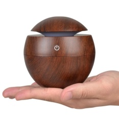 Lycheeroma Mini Portable Essential Oil Diffuser Mist Maker Ultrasonic Aroma Humidifier Wooden USB Diffuser Air Home Appliances - intl