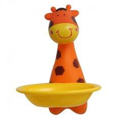 LZ Kids Cartoon Suction Dish Sucker Soap Dish Soap Stand Storageorganizer Box Holder (Giraffe) - Intl