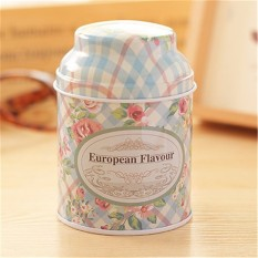 LZ Vintage Flower Sugar Coffee Tea Tin Jar Container Candy Sealed Canseuropean