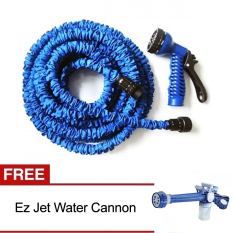 Magic X-Hose Auto Expandable 15 m - Selang Air Fleksibel - Biru + Gratis Ez Jet Water Canon