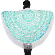 Mandala Tassel Round Fringing Beach Towel Serviette Table Cloth Hippy Hippie Boho Gypsy Beach Towel Wall Hanging - Intl