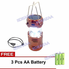 Maxxio Lampu Camping Solar AA Battery Bundle - Bronze Colour