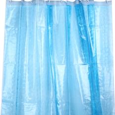 MC Fashion 3D Water Cube Design Transparent Bathroom Shower Curtain Waterproof EVA Fabric 180 X 180cm - Intl
