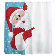 MC Unique Custom Merry Christmas Santa Claus 3D Printed Shower Curtain Waterproof Polyester Bathroom Decor Curtain Screens - Intl