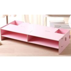 Meja laptop Desktop storage / rak komputer Pink soft