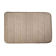 Memory Foam Bath Mats Bathroom Horizontal Stripes Rug Non-slip Camel (Intl)