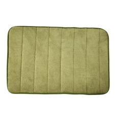Memory Foam Bath Mats Bathroom Horizontal Stripes Rug Non-slip Green (Intl)