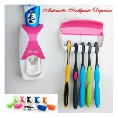 MESH Automatic Toothpaste Squeezing Device - Dispenser Odol Dan Tempat Sikat Gigi B01
