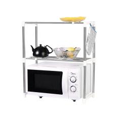 Microwave Oven Stainless Steel Shelf Storage Rack - Rak Penyimpanan Dapur