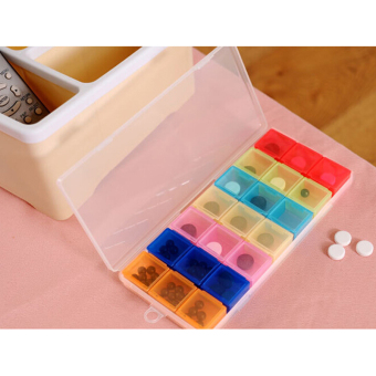 Mini Cute 7 Days Weekly Daily Medicine Pill Box Holder Case Drug Storage Pillbox