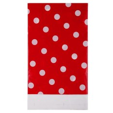 Multi Color Dots PE Catoon Table Cover For Birthday Wedding Decoration Large Size Red