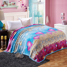 Multicolor Lovely Heart Style Fleece Blankets Fashion Solid Throw Thick Spring / Autumn Home & Living Blanket - Intl