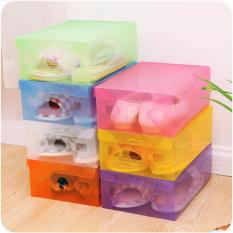 Multicolour Transparent Shoe Box / Kotak Sepatu Transparan Warna-Warni - 10 Pcs