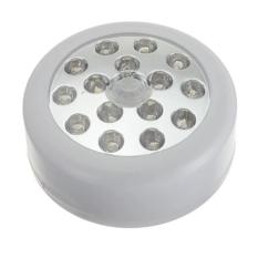 New 15 LED Auto Motion Sensor Detector PIR Infrared Indoor Night Light Lamp Wireless (White)