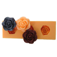 New DIY Silicone Molds For Cake Decorating Fondant Molds Mini Rose Flower Style Chocolate Mould Cake Tools Kitchen Color Green F0166HM50