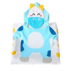 New High Quality Fashion Animal Cute Cotton Baby Bathrobe Hooded Cartoon Kids Towel Children Beach Towel (Intl)