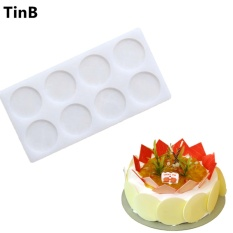 New Round Shaped Silicone Cake Mold Cake Decoration Fondant Chocolate Cake Mold 3D Food Grade Silicone Mold Baking Tools - Intl