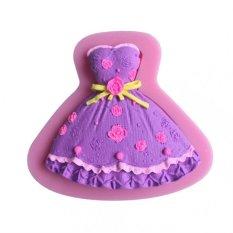 New Silicone 3D Dress Shape Fondant Soap Cake Mold