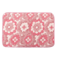 New Soft Non-slip Carpet Floor Mat Rug Shower Bathroom Bedroom Home Kitchen Pad Pink Flowers (Intl)