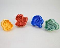 NiceEshop Cute 3D Cartoon Stamp Sandwich Cookie Cutters Press Cutter (Intl)