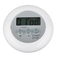 NiceEshop Mini Round LCD Digital Cooking Kitchen Countdown Timer Alarm (White) (Intl)