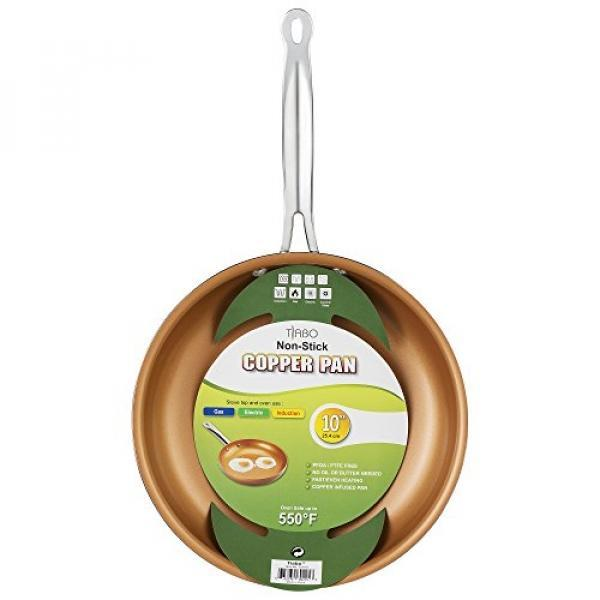 Non-stick Copper Frying Pan CeramiTech with Ceramic Coating with Induction cooking,Oven & Dishwasher safe 10 Inches By Tiabo - intl