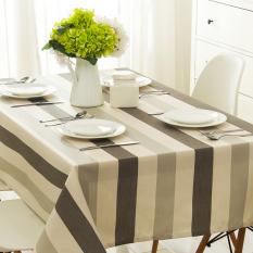 Nordic Table Waterproof Lattice Table Cloth Cotton Fabric Cloth Rectangular Desk Modern Minimalist Art Tablecloths 90*90CM - Intl - Intl