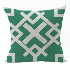 Nunubee Vintage Cotton Pillowcase Decorative Cushion Cover Square Home Pillowcase For Sofa Green 5
