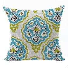 Nunubee Vintage Cotton Pillowcase Decorative Cushion Cover Square Home Pillowcase For Sofa Multicolor 1
