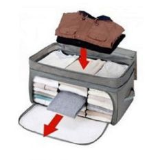 OEM Foldable Cloth Organizer 3 Window Storage - Abu-Abu