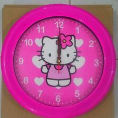 Ogana Clock - Jam Dinding Gambar Cartoon hello kitty 1
