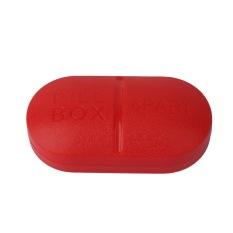 OH Portable Travel 6-Slot Medical Pill Box Holder Medicine Case Drug Storage New (Red)