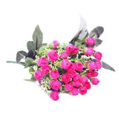 OHOME Kuncup Bunga Rose Artificial Hiasan Dekor Ruangan - AN-B000335 - Pink Tua