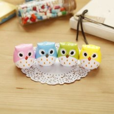 Okdeals Lovely Owl Pattern Pencil Sharpener Multicolor Random (Intl)