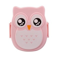 Owl Lunch Box Food Container Storage Box Portable Bento Box Pink - Intl