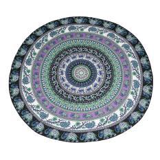 Oxoqo Mandala Round Roundie Beach Throw Tapestry Hippy Boho Gypsy Chiffon Tablecloth Beach Blanket