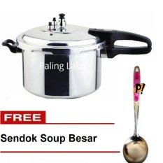 Paling Laku Panci Presto Trisonic Preasure Cooker - 8 L + FREE Sendok Soup Crystal Besar