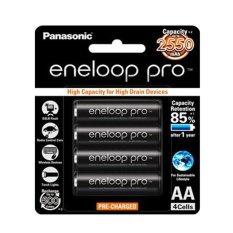Panasonic Eneloop PRO AA - 2550 mAh - Bp4 - Hitam