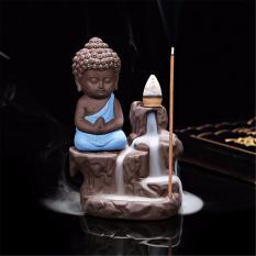 Patung Buddha keramik dudukan dupa kerucut arus balik asap pedupaan dekorasi - International