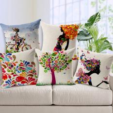 Pedesaan yang segar dan bebas biaya pengiriman/kupu-kupu gadis bunga kapas sarung bantal mobil bantal sofa untuk bersandar pada dari 45 x 45