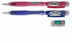 Pentel Fiesta Ax105 - Pink Dan Biru 0.5 + Free Hi-Polymer Eraser